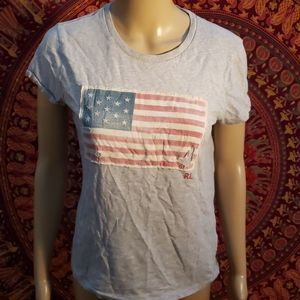 Polo Ralph Lauren distressed American flag tee SP
